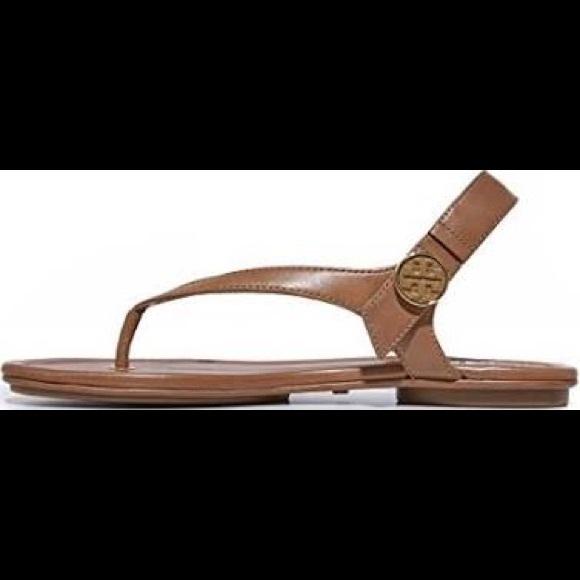 9fa0d435cc09 NIB Royal Tan Minnie Tory Burch Travel Sandal